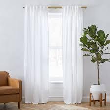 belgian flax linen curtain white
