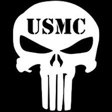 Usmc Punisher Vinyl Cut Decal With No Background 5 Inch White Decal Car Truck Van Wall Laptop Cup Walmart Com