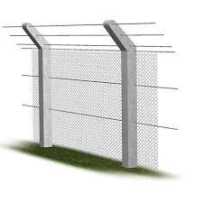 Chainlink Cranked Top Post Chainlink Strained Wire Fencing Supreme Concrete