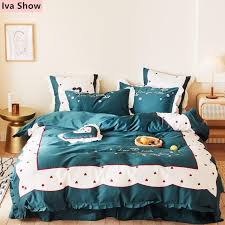 princess style duvet cover dark green