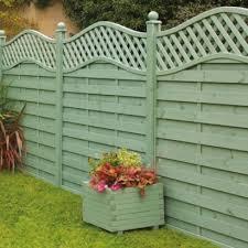 Woodbury Pre Painted Fence Panels Green H 1 8x W 1 8m 5019063203230 5019063203247 5019 Garden Fence Paint Garden Fence Panels Decorative Garden Trellis