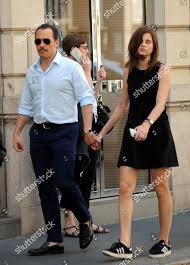 Stefano Accorsi his wife Bianca Vitali Editorial Stock Photo - Stock Image