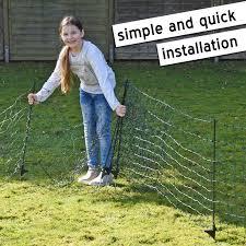 Voss Pet Petnet 15m Dog Fence Netting Puppy Rabbit Fence Net 65cm 14 Posts 1 Spike Green