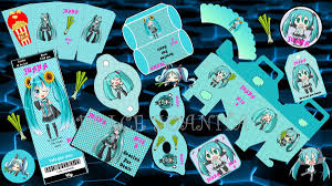 Kit Personalizado Cumpleanos Hatsune Miku Imprimible 276 00 En