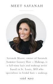 savanah summer luxury hair makeup