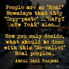 people are so real nowa quotes writings by abdul gani