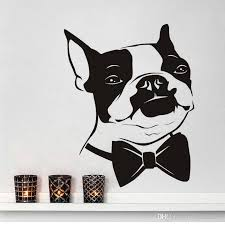 Boston Terrier Dog Removable Wall Stickers Cute Animal Funny Bow Tie Art Wall Sticker Vinyl Wall Decal For Kids Rooms World Map Wall Sticker Zebra Wall Decals From Joystickers 11 58 Dhgate Com
