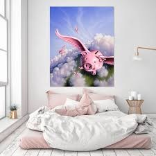 3d Flying Pig 034 Jerry Lofaro Wall Sticker Aj Wallpaper