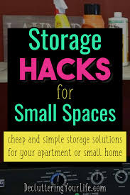 clever storage ideas for small
