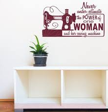 The Power Of One Woman Sewing Craft Wall Art Decals Vinyl Lettering Stickers