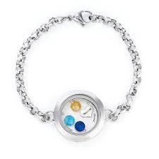 end floating locket bracelet with