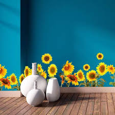 Sunflowers Border Decal Home D Cor Line Wall Decals