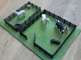 3d Printed Farm Fence For Toy Animals By Robinh Pinshape