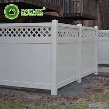 China 6 X 8 Vinyl Privacy Fencing With Top Lattice On Deck China Tongue And Groove Vinyl Private Fence White Vinyl Privacy Fence