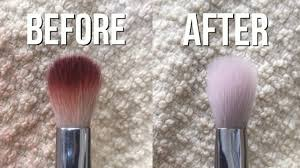how to clean makeup brushes fast you