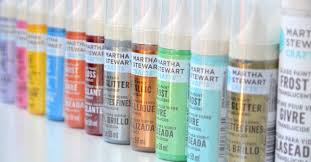 martha stewart glass paints have