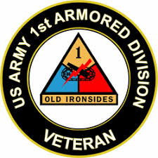 Us Army Veteran 1st Armored Division Sticker Decal