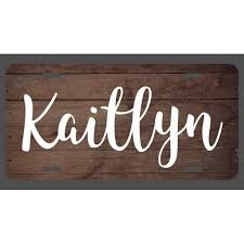 Kaitlyn Name Wood Style License Plate Tag Vanity Novelty Metal Uv Printed Metal 6 Inches By 12 Inches Car Truck Rv Trailer Wall Shop Man Cave Np031 Walmart Com Walmart Com