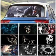 Funny Car Rear Window Sticker Wrap Cartattoo Truck Body Scary Horror Decal Film Ebay