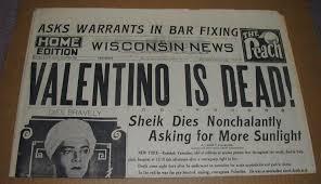 Valentino Newspaper article
