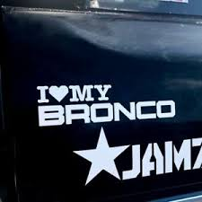 Vinyl Decal For Ford Bronco I Heart My Bronco Graphic Car Truck Window Ebay