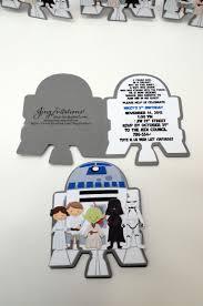 Star Wars Invitations R2d2 Darth Vader Luke Skywalker