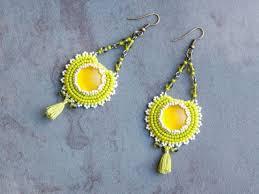 beaded boho earrings bead chandelier