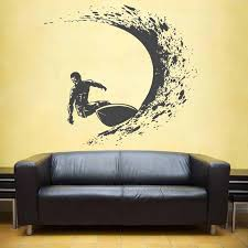 Surfing Wall Decals Surfer Wall Sticker Surfing Sports Decals Surfboard Wall Decals Waves Wall Decals For Boy S Beadroom Yd06 Wall Stickers Aliexpress