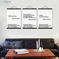 modern mini st typography andy warhol quotes wooden framed