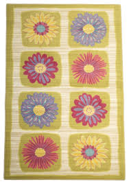 Daisy Flowers Girls Room Area Rug Contemporary Kids Rugs By Rug Shop And More