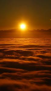 wallpaper sunrise clouds sky sun 8k