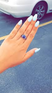blue acrylic nails coffin new