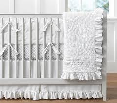 ruffle crib bedding sets pottery barn