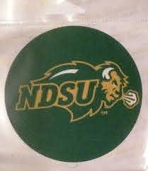 Amazon Com Fannut Com North Dakota State Bison Ndsu Decal Rr 4 Round Vinyl Auto Home Window Glass University Of Sports Outdoors