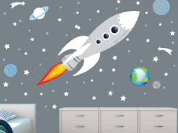 wall mural spaceship stickers outer art