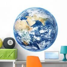 Planet Earth Wall Decal Wallmonkeys Com