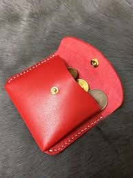 personalized leather coin purse coin