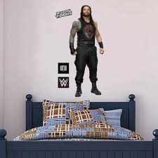 Wwe Wall Decal Roman Reigns Wrestler Sticker Mural Art Vinyl Art Bedroom Kids Ebay