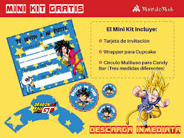 Dragon Ball Gt Kit Gratis Para Imprimir Mundo Mab Kits De