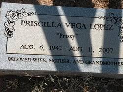 """Priscilla """"Prissy"""" Vega Lopez (1942-2007) - Find A Grave Memorial"""