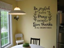 Be Joyful Always Pray Give Thanks Vinyl Wall Decal Sticker Home Decor Quote Ebay