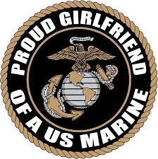 Amazon Com Proud Girlfriend Us Marine Corps Army Decal Sticker 5 Black Everything Else