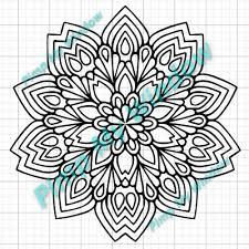 Mandala Henna Multisurface Vinyl Window Car Decal 12 00 Picclick