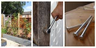 How To Install Fence Posts Using Concrete Bolts Kezzabeth Diy Renovation Blog