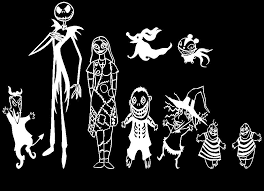 Amazon Com Focenterprises Nightmare Before Christmas Jack Skellington And Sally Family Halloween Vinyl Decal Sticker For Macbook Notebook Laptop Bumper Car Window Wall Kitchen Dining