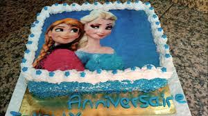 حلوة عيد ميلاد أميرة الثلج مع طريقة وضع الصورة القابلة للأكل Elsa