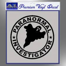 Paranormal Investigator Decal Sticker Ghost A1 Decals Paranormal Investigation Decals Stickers Vinyl Decals