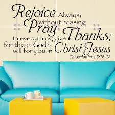 In Everything Give Thanks Christian Decal Divine Walls