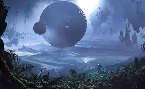 scifi world fantasy wallpaper digital