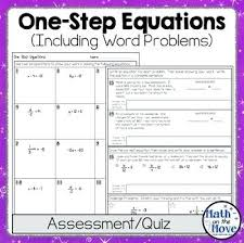 one step equations worksheets